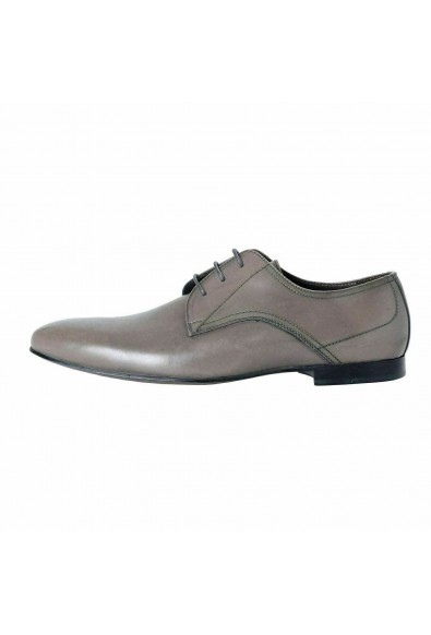 A. Testoni Basic Men's Leather Gray Lace Up Oxfords Shoes: Picture 2