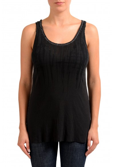 Maison Margiela Faded Black Sleeveless Women's Tank Top