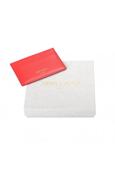 """Jimmy Choo Women's Red Leather """"Athini"""" Card Holder: Picture 2"""
