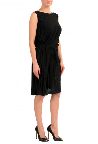 Maison Margiela 1 Women's Black Sleeveless Sheath Pleated Dress: Picture 2