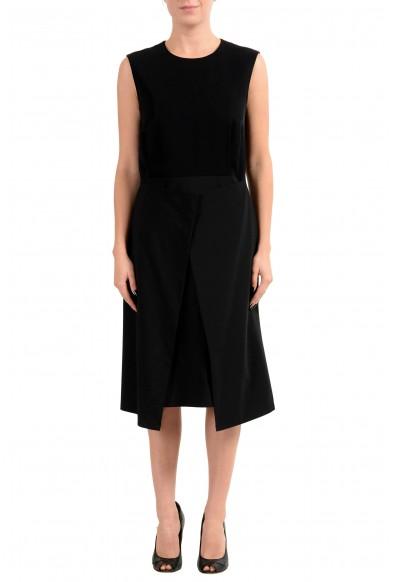 """Hugo Boss """"Delieta"""" Women's Wool Black Sleeveless Sheath Dress"""