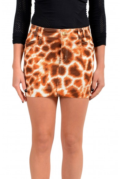 Just Cavalli Women's Multi-Color Animal Print Mini Skirt