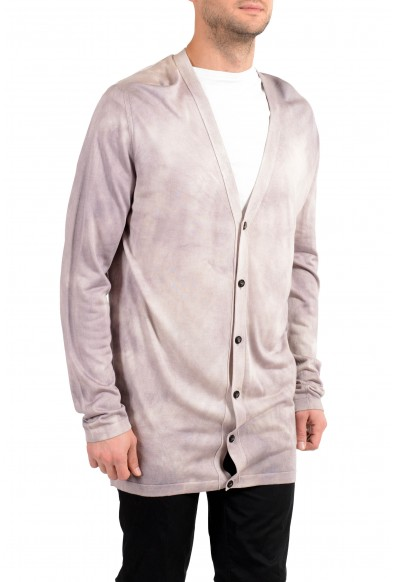 Versace Men's 100% Silk Cardigan Pullover Sweater: Picture 2