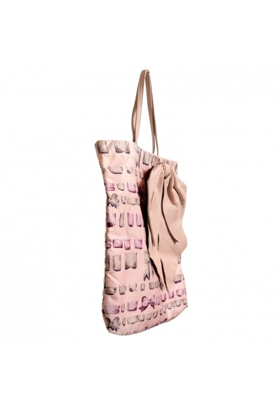 Red Valentino Women's Pale Pink Leather Trimmed Bow Decorated Tote Shoulder Bag: Picture 2
