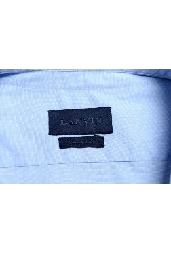 Lanvin Men's Light Blue Long Sleeve Dress Shirt: Picture 7