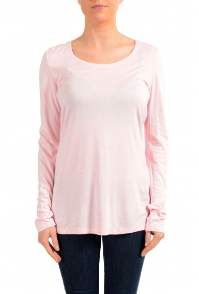 Versace Jeans Women's Pink Crewneck Long Sleeve Top