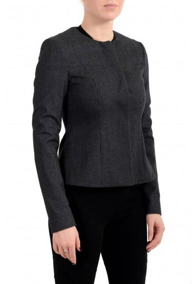 "Hugo Boss Women's ""Javilla"" 100% Wool Plaid Button Down Blazer: Picture 2"