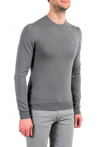 Versace Collection Men's Gray 100% Wool Crewneck Pullover Sweater: Picture 2
