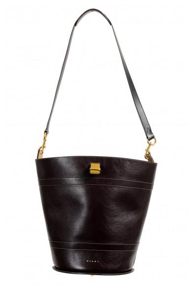 Marni Women's Multi-Color Textured Leather Bucket Shoulder Bag Handbag: Picture 2