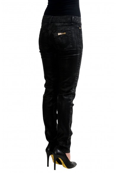 "Just Cavalli ""Luxury"" Dark Wash Covered Skinny Legs Women's Jeans: Picture 2"