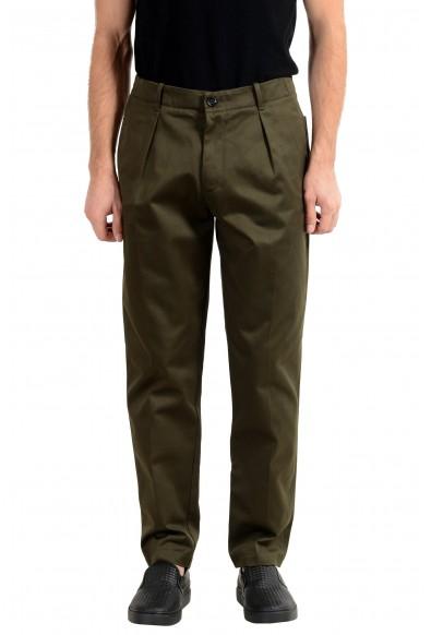 "Hugo Boss ""Kirio-Pleats-P"" Men's Dark Green Casual Pleated Pants"