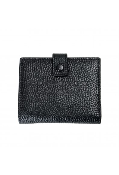 Burberry Unisex Black Perforated Leather Bifold Wallet