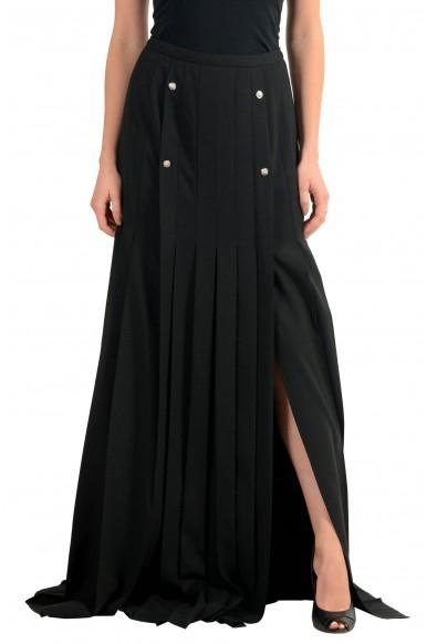 Versace Versus Wool Black Women's Maxi Skirt: Picture 2