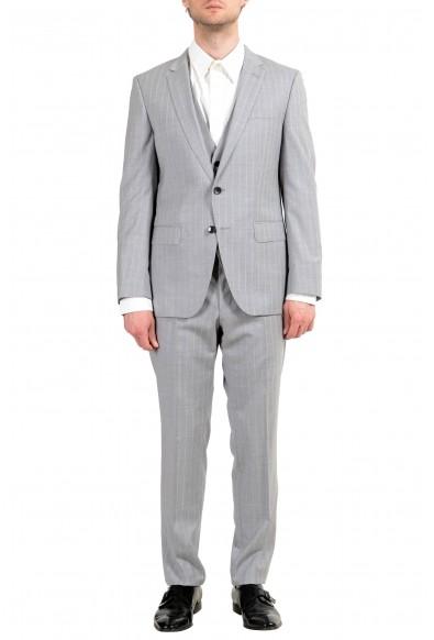 """Hugo Boss """"Huge6/Genius5WE"""" Men's 100% Wool Slim Two Button Three Piece Suit"""