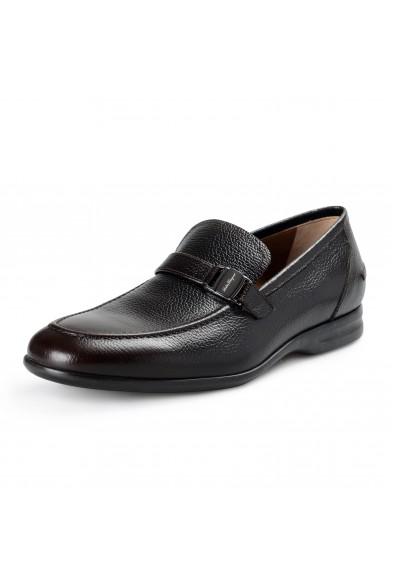 "Salvatore Ferragamo Men's ""TANGERI"" Dark Brown Leather Slip On Loafers Shoes"