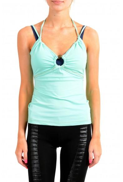 Just Cavalli Women's Light Green Blouse Top
