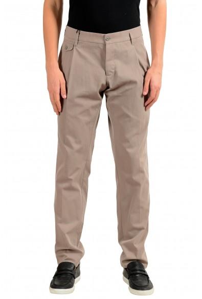 Dolce & Gabbana Men's Beige Pleated Dress Pants