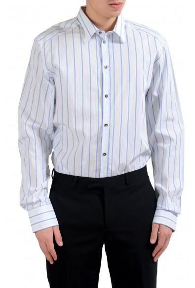 """Dolce & Gabbana """"Gold"""" Striped Men's Dress Shirt"""