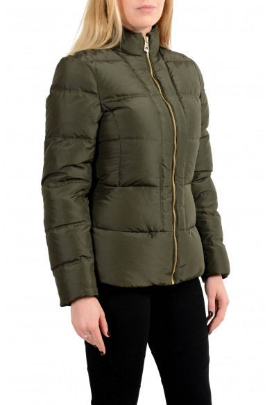 Versace Collection Women's Dark Green Down Full Zip Parka Jacket: Picture 2
