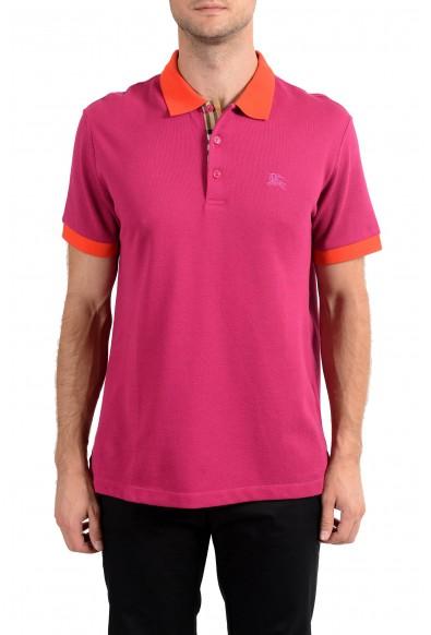 Burberry Men's Raspberry Pink Short Sleeve Polo Shirt