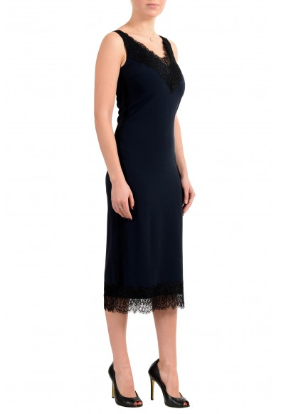 "Hugo Boss Women's ""Haminka1"" Blue Sleeveless Lace Trimmed Dress: Picture 2"