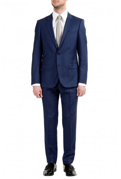 """Hugo Boss """"Henry/Griffin182"""" Men's 100% Wool Slim Blue Two Button Suit"""