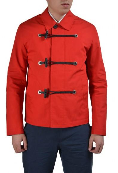 Dior Red Men's Button Down Basic Jacket