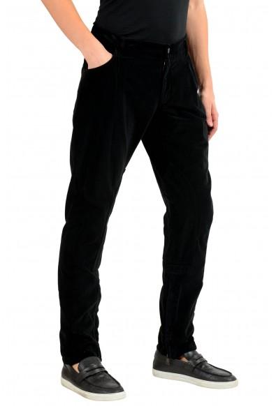 Dolce & Gabbana Men's Black Velour Casual Pants: Picture 2