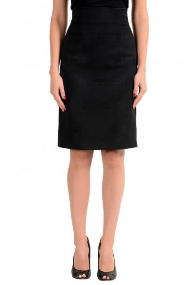 Versace Women's Black Pencil Skirt