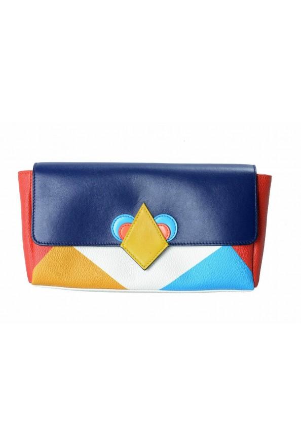 Jil Sander 100% Leather Multi-Color Women's Clutch Bag