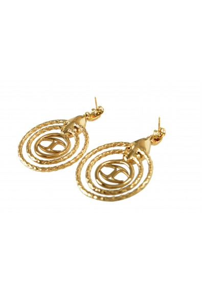 Just Cavalli Women's Gold Snake Earrings With Purple Crystal: Picture 2