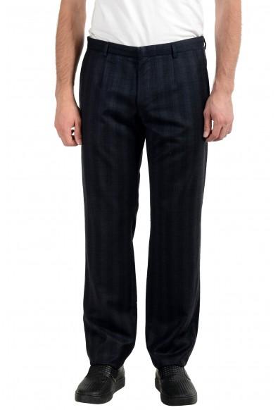 "Hugo Boss ""Heise"" Men's 100% Wool Plaid Dress Pants"