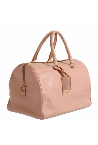 Saint Laurent Women's Pink Calfskin Leather Classic Duffle 12 Bag
