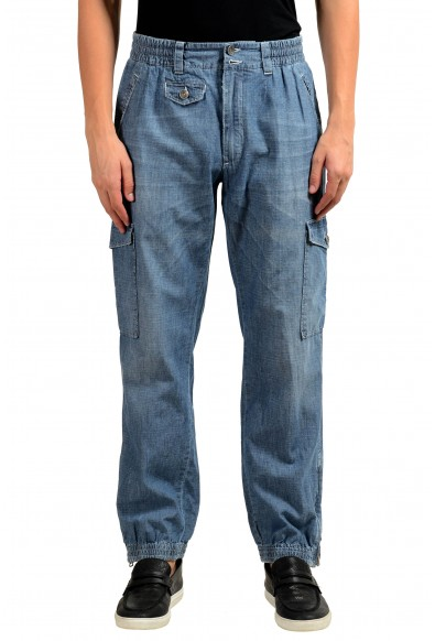 Dolce & Gabbana Men's Blue Denim Cargo Casual Pants