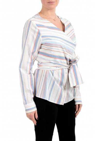 """Hugo Boss Women's """"Barap"""" Striped Belted Blouse Top: Picture 2"""