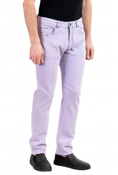 Versace Men's Faded Purple Taylor Fit Stretch Slim Jeans: Picture 2
