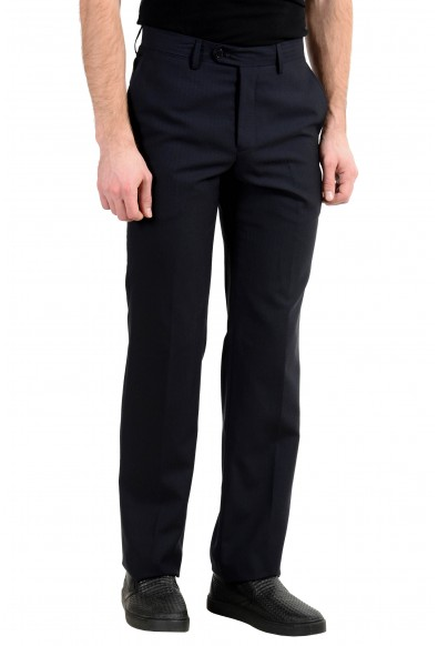 Versace Collection Men's 100% Wool Black Dress Pants