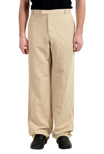 Exte Men's Linen Beige Casual Pants