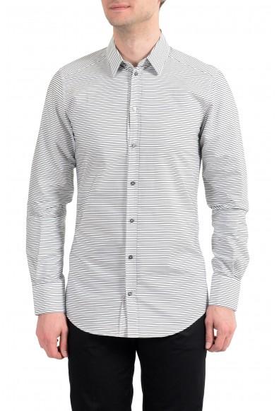 "Dolce & Gabbana ""Gold"" Men's Black Striped Long Sleeve Dress Shirt"
