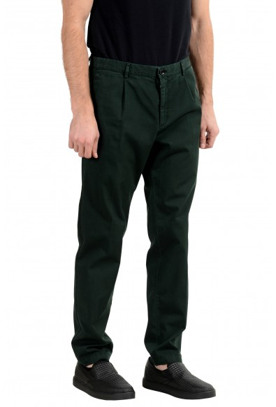 """Hugo Boss """"Sleat"""" Men's Green Stretch Casual Pants : Picture 2"""