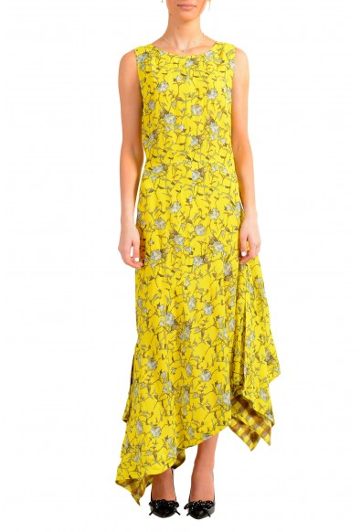 "Hugo Boss Women's ""Kilami"" Multi-Color Maxi Sleeveless Sundress Dress"