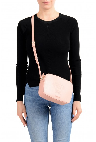 Versace Women's Pink Medusa Textured Leather Crossbody Bag: Picture 2