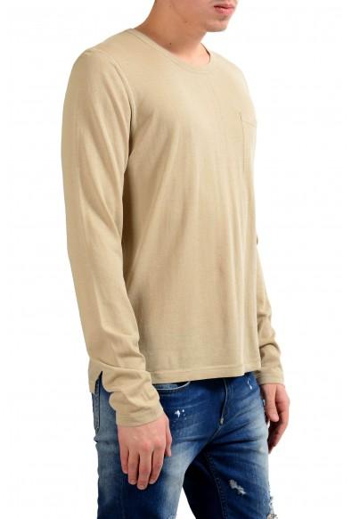 Malo Men's Crewneck Beige Long Sleeve Casual Shirt: Picture 2