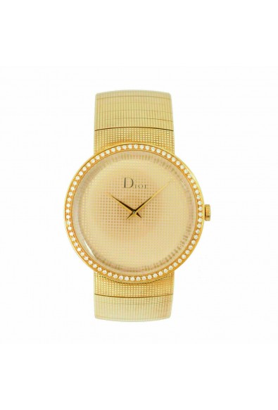 Christian Dior La D De Dior Diamonds Solid Swiss Yellow Gold Watch