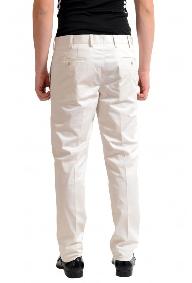 Prada Men's Off White Flat Front Dress Pants: Picture 2