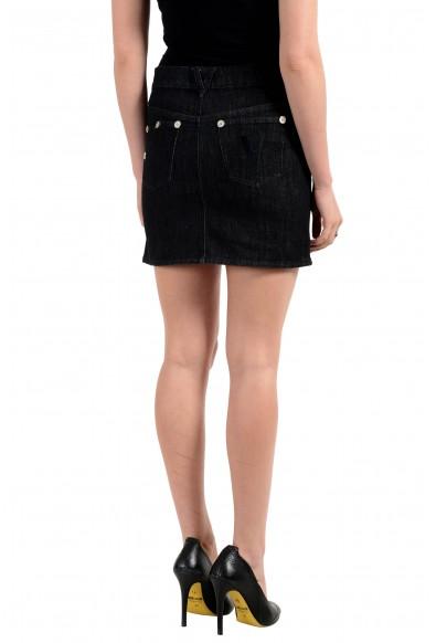 Versace Jeans Couture Women's Black Mini Denim Skirt: Picture 2