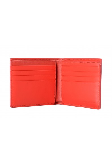 Burberry Men's Red Checkered Perforated Leather Bifold Wallet: Picture 2