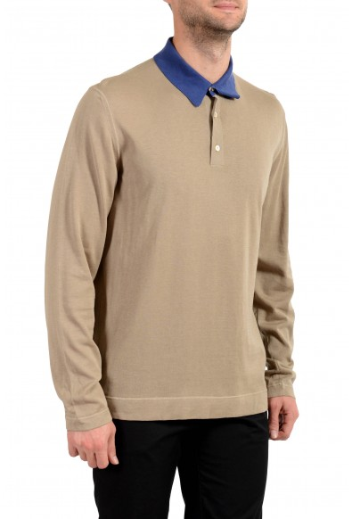Malo Men's Brown Polo Style Pullover Sweater: Picture 2