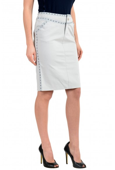 Versace Jeans Couture Women's Gray Embellished Skirt : Picture 2