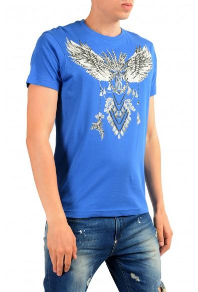 Roberto Cavalli Men's Bright Blue Graphic Print T-Shirt: Picture 2
